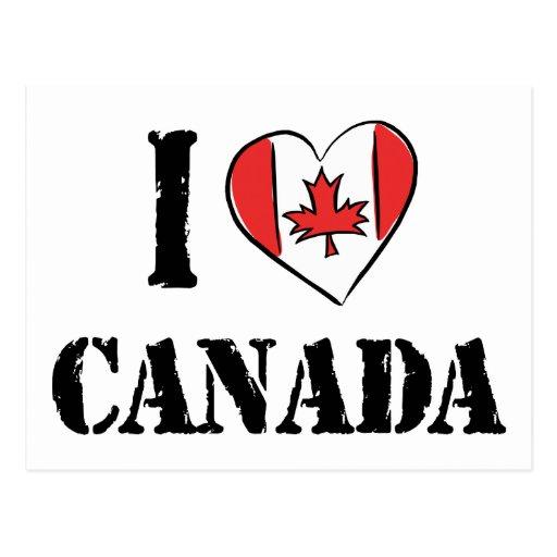 I Love Canada Post Card