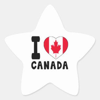 I Love Canada Star Sticker