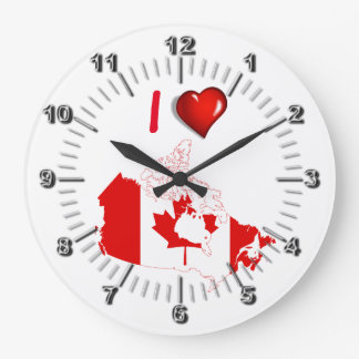 I love Canada Wallclocks