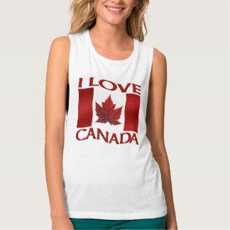I Love Canada Women's Tank Top Canada Souvenir Top
