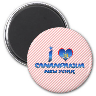 I love Canandaigua, New York 2 Inch Round Magnet