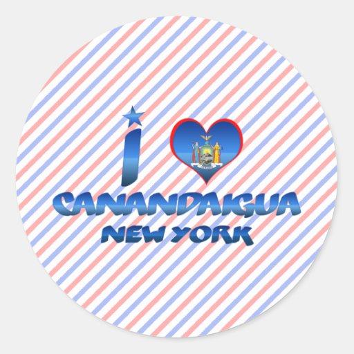 I love Canandaigua, New York Stickers