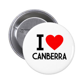 I Love Canberra Pins