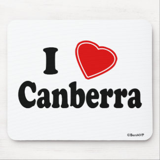 I Love Canberra Mouse Pad