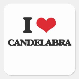 I love Candelabra Square Sticker