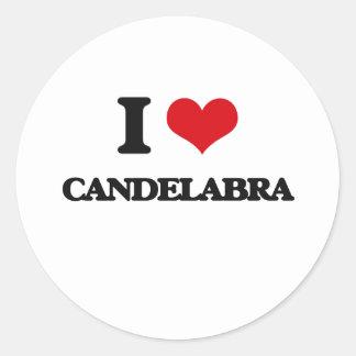 I love Candelabra Classic Round Sticker