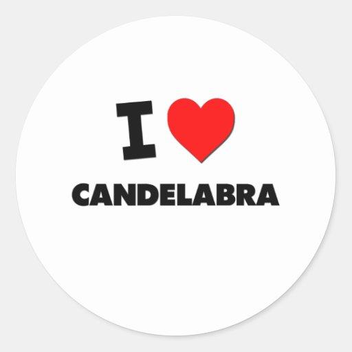 I love Candelabra Stickers