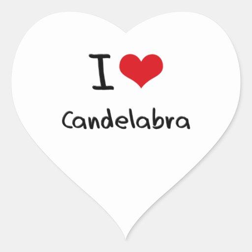 I love Candelabra Heart Sticker