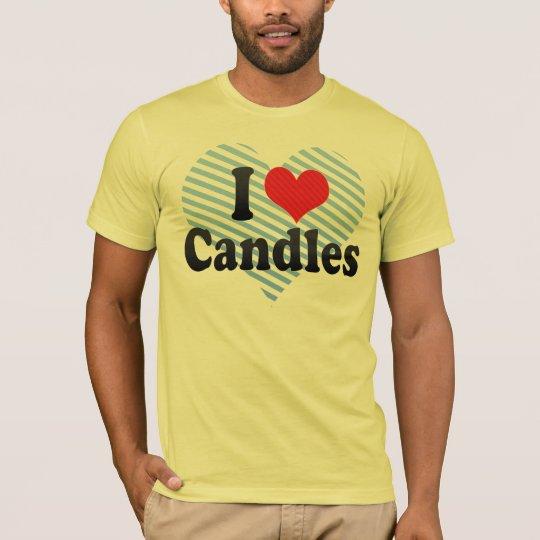 I Love Candles T-Shirt