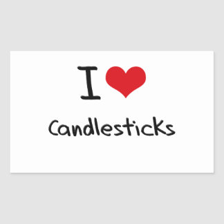 I love Candlesticks Rectangle Stickers