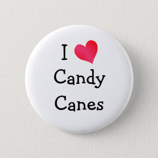 I Love Candy Canes 2 Inch Round Button