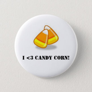 I Love Candy Corn! 2 Inch Round Button