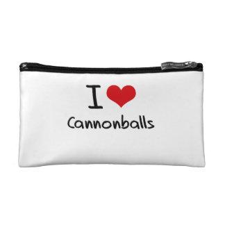 I love Cannonballs Cosmetic Bag