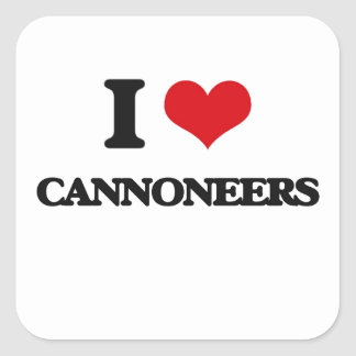 I love Cannoneers Square Stickers