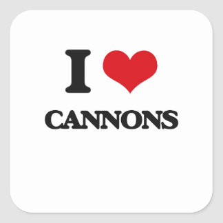 I love Cannons Square Stickers