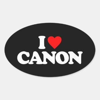 I LOVE CANON OVAL STICKER