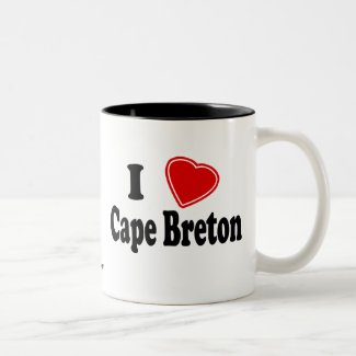 I Love Cape Breton Two-Tone Mug