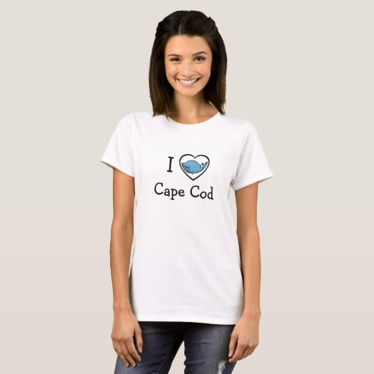 I Love Cape Cod Whale in Heart Shirt