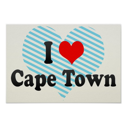I Love Cape Town, South Africa Poster