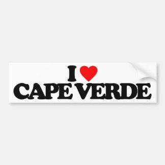 I LOVE CAPE VERDE CAR BUMPER STICKER