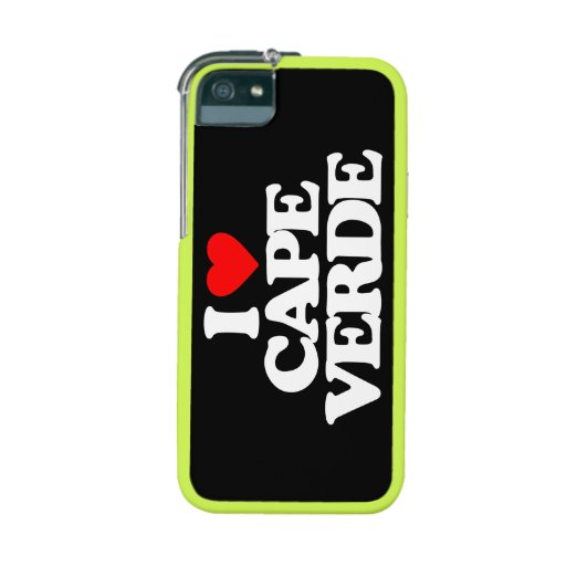 I LOVE CAPE VERDE iPhone 5/5S CASES