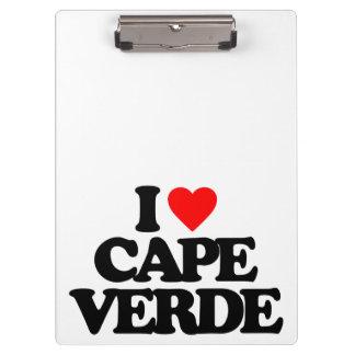 I LOVE CAPE VERDE CLIPBOARDS