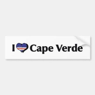 I Love Cape Verde Flag Bumper Sticker