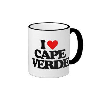 I LOVE CAPE VERDE COFFEE MUGS