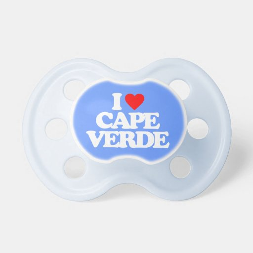 I LOVE CAPE VERDE BABY PACIFIERS