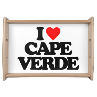 I LOVE CAPE VERDE SERVING PLATTERS