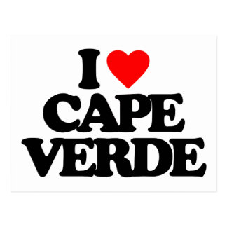 I LOVE CAPE VERDE POST CARDS
