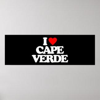 I LOVE CAPE VERDE POSTER