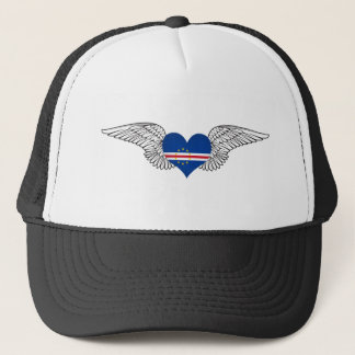 I Love Cape Verde -wings Trucker Hat