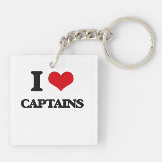 I love Captains Acrylic Key Chain