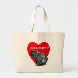 I Love Capybaras 2 Large Tote Bag