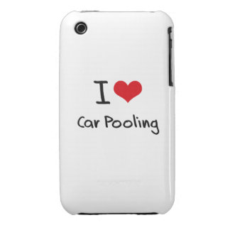I love Car Pooling Case-Mate iPhone 3 Cases