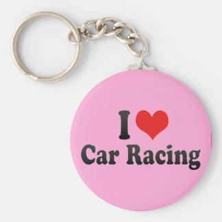 I Love Car Racing Keychains