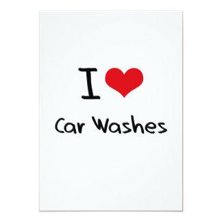 "I love Car Washes 5"" X 7"" Invitation Card"