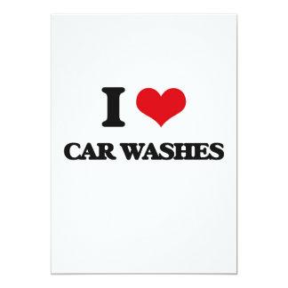 I love Car Washes 5x7 Paper Invitation Card