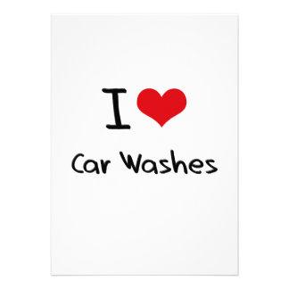 I love Car Washes Custom Invitations