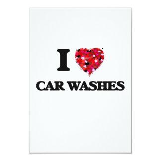 "I love Car Washes 3.5"" X 5"" Invitation Card"