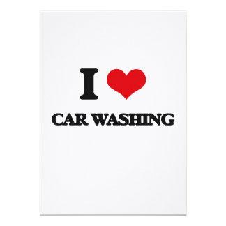 I Love Car Washing 5x7 Paper Invitation Card