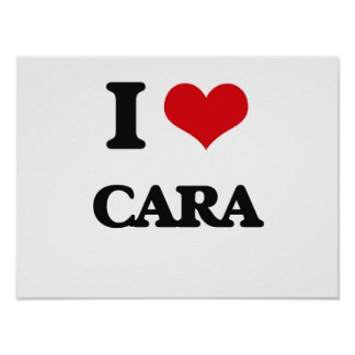 I Love Cara Poster
