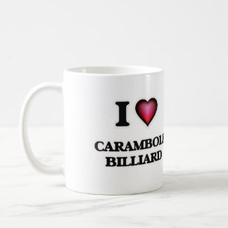 I Love Carambole Billiard Coffee Mug