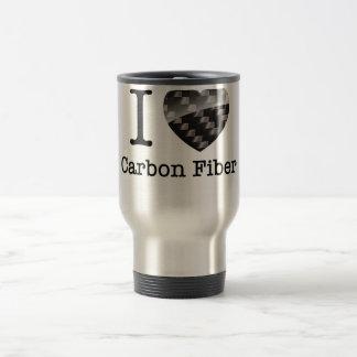 I Love Carbon Fiber Travel Mug