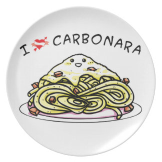 I love carbonara spaghetti plate