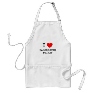 I Love Carbonated Drinks Adult Apron