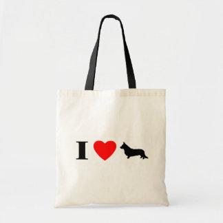 I Love Cardigan Welsh Corgis Bag
