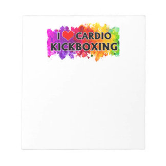 I Love Cardio Kickboxing Notepad