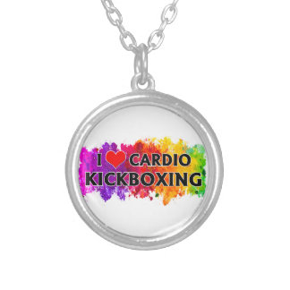 I Love Cardio Kickboxing Silver Plated Necklace